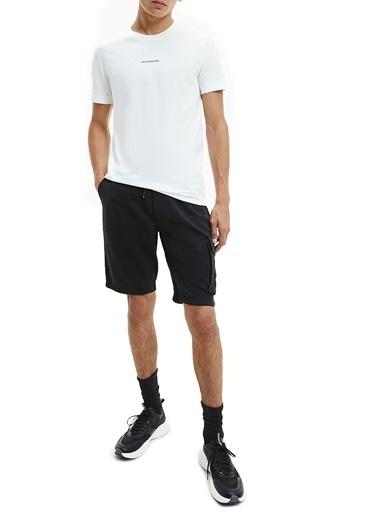 Calvin Klein  Pamuklu Regular Fit Cepli Short Erkek Short J30J314676 Bae Siyah
